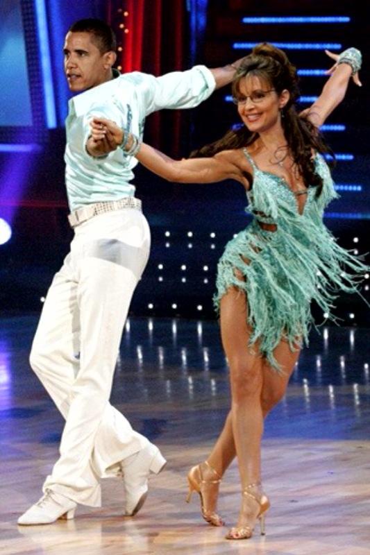 Obama & Sarah ballroom dancing